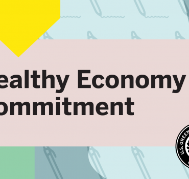 VG Signs USGBC Healthy Economy Commitment