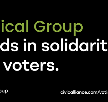 VG Joins Civic Alliance Campaign to Protect Voting Access
